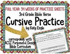 handwriting worksheets bible verses 21310 year of bible verse handwriting cursive practice 3rd grade by katy engle