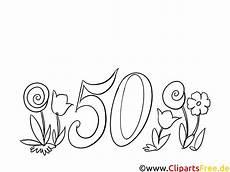 malvorlage zum 50 geburtstag kostenlos