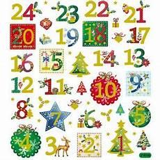 advent calendar numbers 1 24 glitter self