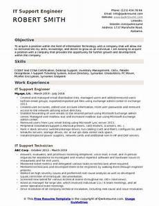 it support engineer resume sles qwikresume