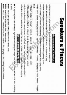 for speakers worksheets free 18635 speakers and places esl worksheet by leaderboss