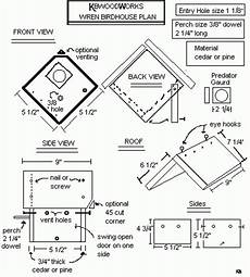 wren house plans bird house plans