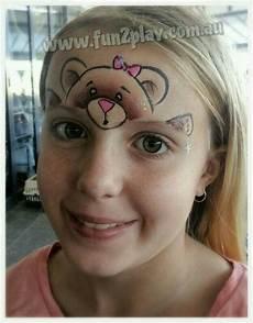 Malvorlagen Gesichter Schminken Teddy Painting Kinderschminken Kinder