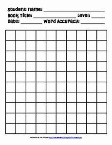 running record form with 100 boxes for guided reading by