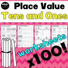place value worksheets nz 5212 tens and ones place value 100 worksheets by made for the classroom