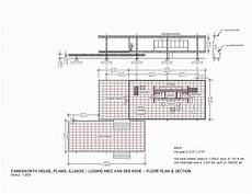 farnsworth house plan plan section the edith farnsworth house plano