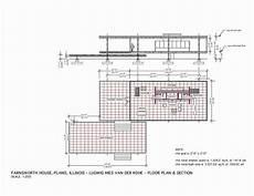 farnsworth house plan plan section the edith farnsworth house plano