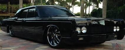 1967 Lincoln Continental Sedan All Black 22 Rims Air Ride