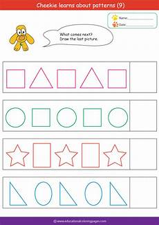 pattern worksheet for preschool the best worksheets image collection download and share worksheets