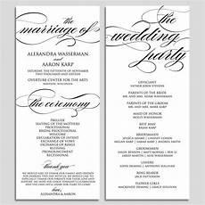 wedding program sle format pdf wedding program template wedding program by modernsoiree zibbet
