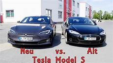 tesla model s facelift tesla model s facelift 2016 vergleich mit altem model s