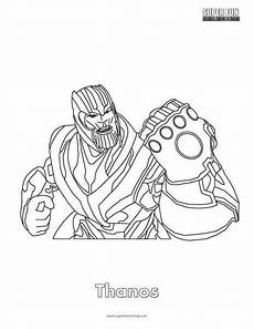 thanos fortnite coloring page fortnitebr