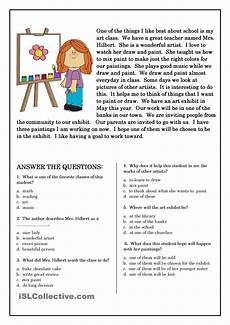 comprehension worksheets grade free worksheet ideas images