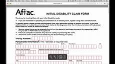 how to fill in aflac claim form youtube