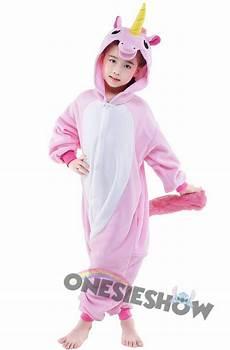 pink unicorn onesie kigurumi polar fleece animal