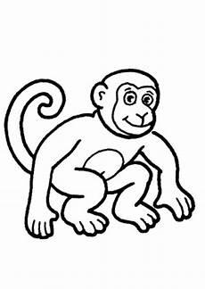 Ausmalbilder Zum Drucken Affe Ausmalbild Junger Affe Zum Ausdrucken
