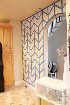 hometalk herringbone pattern accent wall