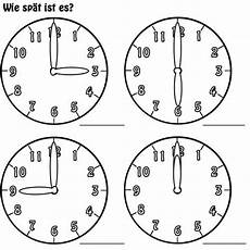 Uhr Malvorlagen Zum Ausdrucken Kostenlose Malvorlage Uhrzeit Lernen Arbeitsblatt Nr 2