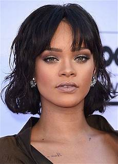 rihanna bob haircut human hair wavy women wig 12 inches
