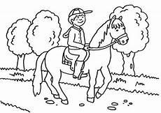 kostenlose malvorlage pferde kleiner reiter zum ausmalen