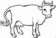 einfache kuh schematisch ausmalbild malvorlage tiere