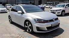 volkswagen golf gti for sale aed 55 000 grey silver 2015
