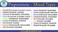 prepositions mixed types list archives english study here