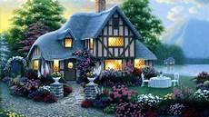 flower wallpaper house 1920x1080 house lights garden flower sea desktop pc and