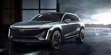 cadillac shocks detroit auto show with electric suv