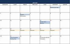 cr 233 ez un calendrier 2016 dans excel mod 232 le gratuit