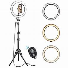 Inch Ring Light With Tripod Stand by 10 Inch Ring Light With Tripod Stand Foleto Led