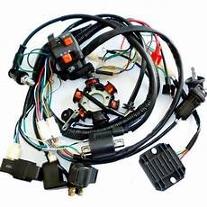 go kart gy6 wiring harness electrics wiring harness cdi coil solenoid gy6 150cc atv buggy go kart ebay