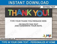 thank you card editable template printable troline thank you cards editable template