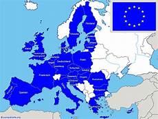 Eu Staaten 2017 - eu l 228 nder eu karte europ 228 ische union