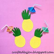 5 hand print activities to do with your 1 year old diy toddler handprint pineapple cards