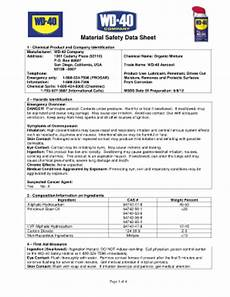 msds for wd 40 fill online printable fillable blank