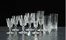 servizio di bicchieri servizio di bicchieri da dodici in cristallo xx secolo