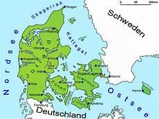 Westlicher Teil Dänemarks - d 228 nemark geografie landkarte l 228 nder d 228 nemark goruma
