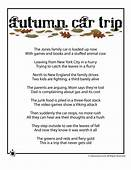 Fall Kids Poems To Print  Autumn Car Trip