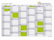 Ferien Bayern 2016 Ferienkalender Zum Ausdrucken