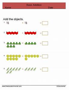 1st grade math worksheet addition with pictures printable addition worksheets grade