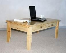 Couchtisch 110x46x65cm 2 Schubladen Tischplatte