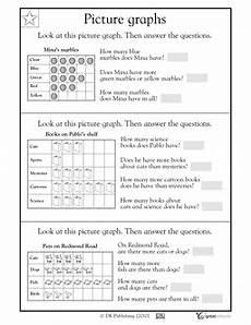 2nd grade 3rd grade math worksheets reading bar graphs picture graph worksheets math