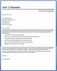 film internship cover letter exles cover letter for resume cover letter for internship