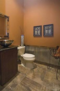 wainscoting brown paint and vessel sink pinterest