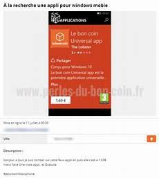 Il Cherche L Application Windows Mobile Du Site Le Bon