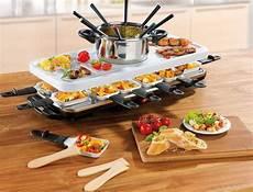 gourmetmaxx raclette und fondue set raclette und fondue