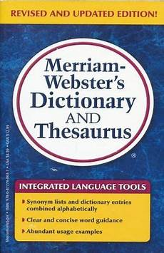 libreria webster dictionary and thesaurus merriam webster inc libro en