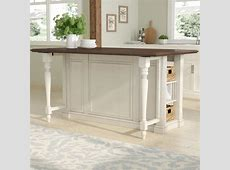 August Grove Kitchen Island with Wood Top & Reviews