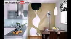 tapeten küche ideen tapeten k 252 che ideen akzentwand kontraste warm k 252 hl